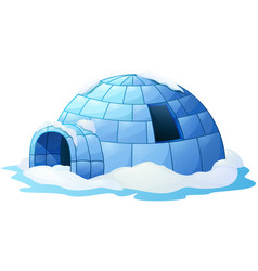 igloo isolated a white background vector image
