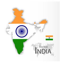 india flag and map vector image