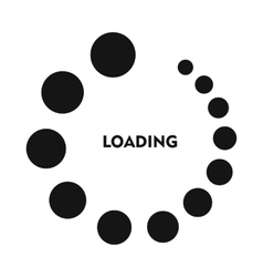 Loading icon in simple style vector