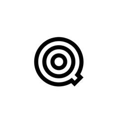 logo letter q target vector image