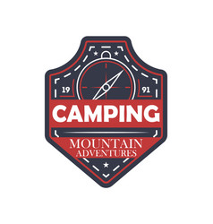 Mountain extreme adventures vintage isolated badge vector
