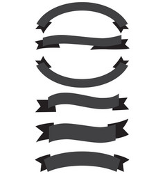 old ribbon banner black and white vector image