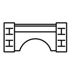 old stone bridge icon outline style vector image