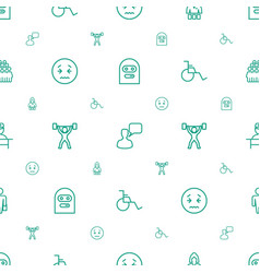 person icons pattern seamless white background vector image