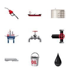 Petroleum icons set cartoon style vector