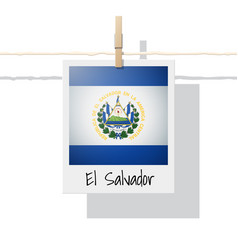 Photo of el salvador flag vector