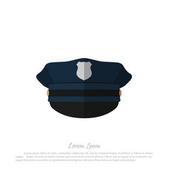 Police cap icon of policeman hat vector