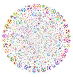 radioactive spiral rotation vector image