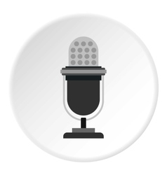 Retro microphone icon flat style vector