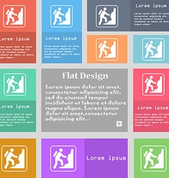 rock climbing icon sign Set of multicolored vector image