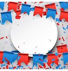 Round background with flags vector image