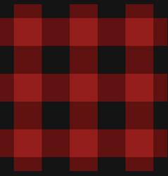 seamless black dark and bright red tartan vector image