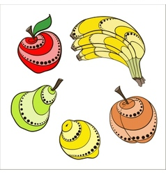 Set Fruit vector image