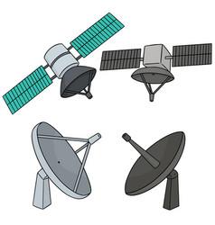 set of satellite vector image