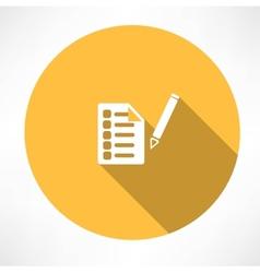 Sheet test icon vector