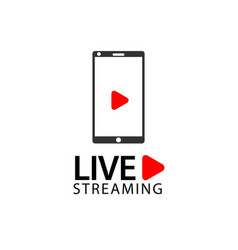 Smart phone live streaming template design vector