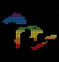 Spectrum pixel lgbt great lakes map vector