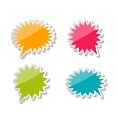 Speech Bubbles Stickers vector