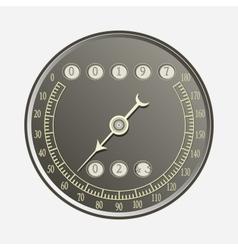 Speedometer in retro style vector image