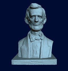 Statue abraham lincoln 3d bust lincoln on vector