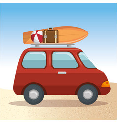 summer vacations trip design vector image