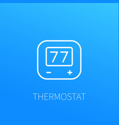 Thermostat line icon vector
