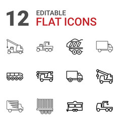 Trailer icons vector