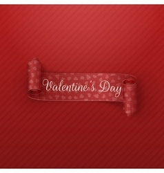 Valentines Day scroll Ribbon with greeting Text vector
