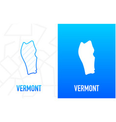 Vermont - us state contour line in white vector