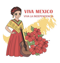 Viva mexico independence day vector
