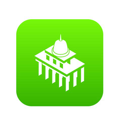 white house usa icon green vector image