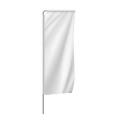 white vertical medium banner streamer template vector image