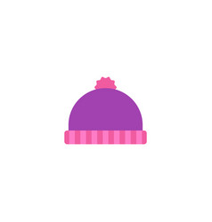 winter hat icon flat element vector image