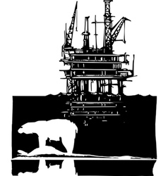 Arctic Drilling vector image