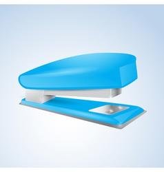 Blue stapler vector