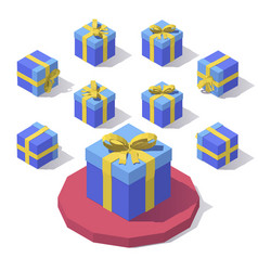 gift box with lid vector image