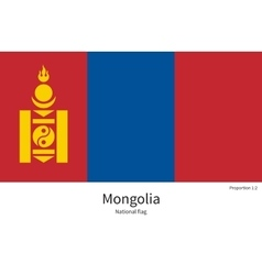 National flag of Mongolia with correct proportions vector image