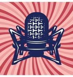 poster with professional studio microphone and vector image