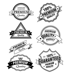Premium Quality Labels vector image