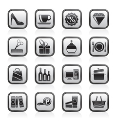 Shopping and mall icons vector image