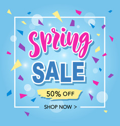 spring sale banner template vector image
