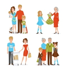 Big Family Icons Set vector image vector image