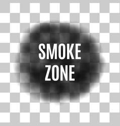 black smoke for use on light background vector image