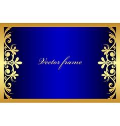 blue floral frame vector image vector image