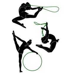 gymnastic 2 vector image