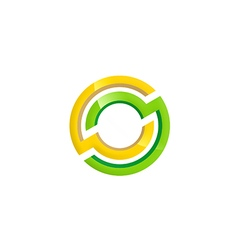 round technology shape color logo vector image
