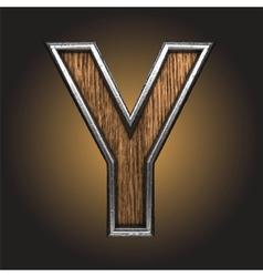 wooden figure vector image vector image
