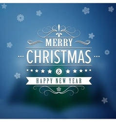 Merry Christmas And Happy New Year Vintage vector image vector image