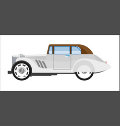 old gray colored elegant car vector image vector image