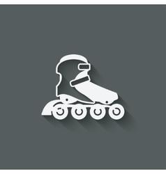 roller skate symbol vector image